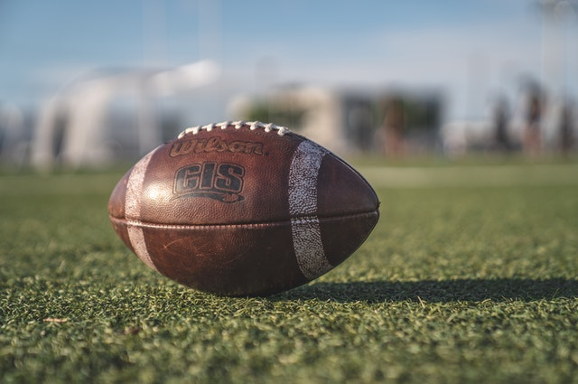 football laying in field